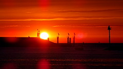 HARLINGEN, THE NETHERLANDS (pwitterholt) Tags: harbour port harlingen haven sunset zonsondergang sun zon sony sonycybershot sonyhx400 dam evening avond avondzon