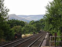 View from Hathersage railway station (Dun.can) Tags: hathersage peakdistrict derbyshire summer railwaystation railway hills