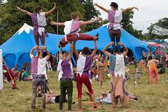 Human Wall (Five Second Rule) Tags: dounetherabbithole 2018 festival summer scotland stirlingshire portofmenteith people crowds acrobats tent stunts