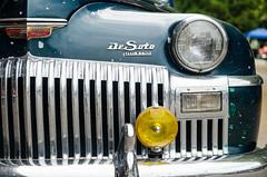 DeSoto driver (GmanViz) Tags: gmanviz color car automobile vehicle nikon d7000 goodguysppgnationals detail 1948 desoto grille headlight bumper badge hood fender