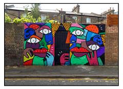 STREET ART by HUNTO (StockCarPete) Tags: hunto renatohunto streetart londonstreetart urbanart graffiti eyes lips londonart london uk stockwell