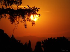 Sunset (peregrinacr) Tags: sunset tuscany italy