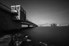 Lauttasaari Bridge (Bunaro) Tags: lauttasaari helsinki finland suomi europe super longexposure bridge black white monochrome sea water summer day shadows calm