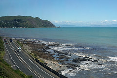 From the train (Neil Pulling) Tags: newzealand wellington sea tasmansea northislandmaintrunkrailwayline view seascape unlimitedphotos travel