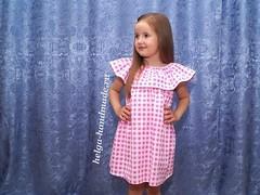 بالصور خياطة و تفصيل فستان صيفي للبنوتات (ezo-handmade) Tags: افكار الطرز و الخياطة خياطة فستان