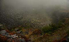 Dali's Hole (PentlandPirate of the North) Tags: dinorwic slate quarry dalishole dinorwig gwynedd snowdonia northwales fog