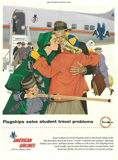 1955 Illustrated Ad, Armerican Airlines, Flagships, Illustrator Al Parker