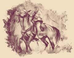 civil war reenactment. lombard july 2018 (timp37) Tags: horseback rider soldier south illinois photolab july 2018 civil war reenactment lombard four seasons park horse