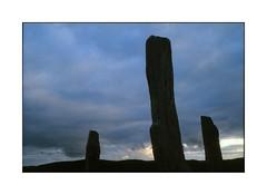 Dawn, Callanish. (tonywright617) Tags: dawn callanish callanais standingstones ancientmonument menhir isleoflewis outerhebrides scotland nikon 135 slr kodak iso400 reversal film analogue