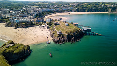 Tenby Beaches (WhitcombeRD) Tags: welsh resort sand tenby holiday relaxing vacation aerial summer town sea travel wales above beach ocean walled mavic tourism pembroke coastline pembrokesire drone tide coast harbour west unitedkingdom gb