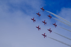 Red Arrows (OgniP) Tags: airplane aircraft redarrows brayairshow jet trail