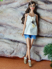 """Linnen"" (Levitation_inc.) Tags: ooak doll dolls clothes handmade fashion fashions royalty nuface integrity toys levitationfashion etsy barbie barbiestyle poppy parker summer boho 2018"