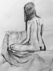 Wild Goose #lifedrawing 8.1.18 (Howard TJ) Tags: study life drawing figure wildgoose female watersolublegraphite pencil lifedrawing