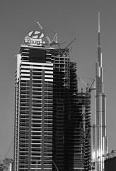 Prêt au lancement - Rocket launching (paul.porral) Tags: architecture cityscape buildings noiretblanc blackandwhite bw skyscraper towers skyline perspective flickr ngc urban urbanlandscape nb space fusée architektur
