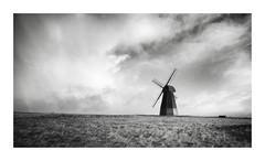 Vengeance (GlennDriver) Tags: black white bw windmill cloud cloudy mono monochrome canon eos windy nd photo border sussex uk england blackandhite