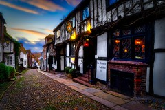 Sunset at The Mermaid Inn (Jim Nix / Nomadic Pursuits) Tags: aurorahdr2018 england europe london luminar2018 macphun skylum sony sonya7ii uk unitedkingdom travel rye eastsussex mermaidinn historic inn hotel sunset hdr highdynamicrange quaint village english
