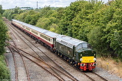 40013 at Madeley Jn [5Z91] (Wolfie2man) Tags: locomotiveserviceslimited andania 5z91 40013 d213 class40 whistler brgreen lsl