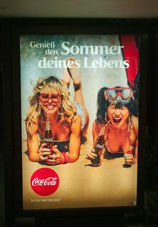 Werbung Coca Cola BVG Haltestelle 10.8.2018