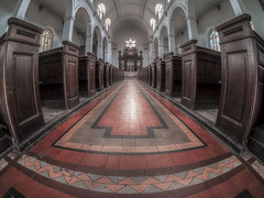 A place of peace (Wizard CG) Tags: avon united kingdom england english gb great britain british bristol city of redcliffe st thomas martyr lane church chapel worship religion christ christian chrisinaity grade ii listed building olympus epl7 hdr heritage world trekker ngc road architecture fisheye arch ceiling window room wall aisle