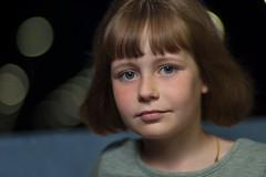 Victoria (Dennis Mikhaylov) Tags: girl child portrait beatiful night headshot bokeh nikon d50 zenitar 85mm f14 14 manual noncpu strobe speedlight sb600 reflector