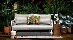 Loft & Aria - Callisto @ C88 August (Yelo Uriza / Loft & Aria) Tags: summer second life outdoor mesh furniture kiwi birds plant rainforest tropical c88 collabor88 couch sofa plants