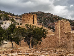 Jemez Monument (Tom Kilroy) Tags: history oldruin architecture famousplace ancient outdoors old cultures stonematerial thepast ruined mountain landscape nature travel archaeology scenics traveldestinations nopeople jemez newmexico jemezhistoricalsite