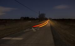 The Secret of New Jersey (• estatik •) Tags: nj new jersey secret night long exposure flemington hunterdon county farm land street stream car lights tail rr railroad crossing dark darkness