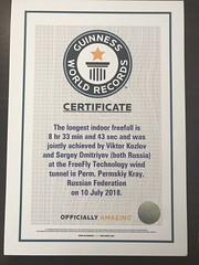 сертификат рекорд