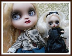 BaD 18th april  `in the frame` (Belladona Blythe and Friends) Tags: icy doll petiteblythe handmadeclothes bad 18april2018 custom belladonablytheandfriends