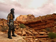 This Was A Place Of Deep Silence And Brooding Shadows, And The Gods That Lived Here Had No Names (Geek Creek) Tags: toys toyphotography actionfigures tonto necatonto neca theoldwest monumentvalley