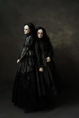 still sisters (dolls of milena) Tags: bjd abjd resin doll aishat black cherry portrait sisters dark noir vintage retro