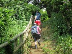 UK - Kent - Capel-le-Ferne - Walking uphill along North Downs Way (JulesFoto) Tags: uk england kent centrallondonoutdoorgroup clog capelleferne walking northdownsway englandcoastpath