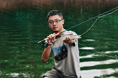 DSC_0407副本 (photogonia) Tags: hunan cina flyfishing fishing pesca huaihua mayang yellowcheek carp angler fish china catch