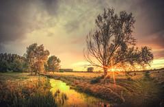 Sunset and Strom Clouds (unciepaul) Tags: warmingtontree warmington cambridgeshire sunset storm summer saturday evening july panorama lightroom sony a6000 samyang 12mm f16 sunrays