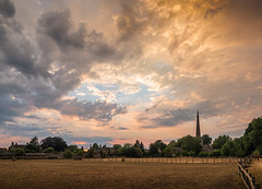 oxford-1-260718 (Snowpetrel Photography) Tags: kidlington olympusem5markii olympusm1240mmf28 oxfordshire churchspires churches clouds sky spires summer sunset villages england unitedkingdom