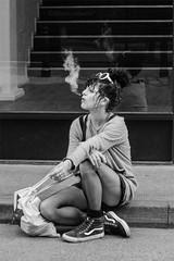 L O N D O N  2018 (Photography by Ali Roberts) Tags: london candid smoking reflection ©alisonroberts
