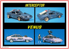 """Fujimi - """"Mad Police"""" built up plastic model kits (StarRunn) Tags: fujimi madpolice japanese sf sciencefiction plasticmodelkit plasticmodel 1980s packaging 124scale unassembledtoy toy"""