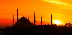 Beautiful Istanbul at Sunset (Stuck in Customs) Tags: istanbul stuckincustomscom treyratcliff turkey treyratcliffcom europe mosque sunset orange shadow sun