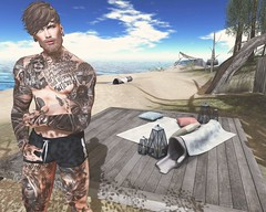 The ocean calms my restless soul. (Pete London Lewis) Tags: secondlife beach virtualreality game sl lindenlabs