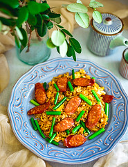 Fried-Rice-With-Chorizo-And-Garlic-Sprouts-3 (lei_auckland) Tags: food photography asian cooking recipes fried rice stir fry