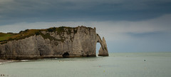 Étretat Chalk Arch - 12-08-2018 (kevaruka) Tags: etretat france francais normandy beach beaches bw blackwhite colour colours seaside sea warer europe comp composition boating boats cliffs cliff flickr thephotographyblog frontpage explore holiday englishchannel canon canoneos5dmk3 canon5dmk3 canonef24105f4l 5d3 5diii 5d 5dmk3 blue green photography landscape ultrawideangle uwa wideangle summer august 2018 chalk arch natural nature geology