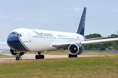 Blue Panorama Airlines Boeing 767-3X2(ER) I-BPAD 0394 Flickr (Daniel P.346) Tags: taxi plane aircraft blue b763 b767 boeing ibpad