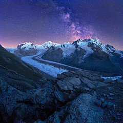 Walliser stars (lionel.fellay) Tags: valais switzerland suisse stars milkyway mountains zermatt montrose fujifilm xt2 night square glacier gletscher