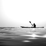 Canoeing - Paola, Italy - Black and white photography thumbnail