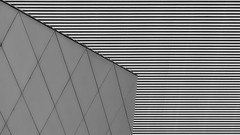 ''' stripes & rhombuses ''' (christikren) Tags: austria architecture blackwhite christikren facade grey lines monochrome panasonic pattern geometry structures stripes building abstract