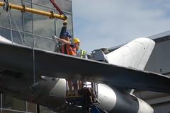 DSC01129 (The Unofficial Photographer (CFB)) Tags: alanjulian chris hunter aviation restoration woking deardiaryjuly2018 2018 alanallen aln julian brooklands history hiviz