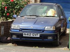 1995 Renault Clio 1.8 16v (Neil's classics) Tags: vehicle 1995 renault clio 18 16v abandoned car