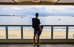 Le calme avant la tempête. (of GASS) Tags: portrait beach plage basque pays mm 80 16 1680 nikkor nikon photo hd france luz de jean saint session surfing surf skateboard skate skateboarding