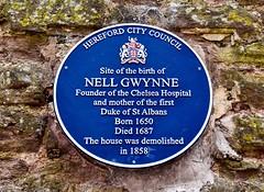 Gwynne Street (rustyruth1959) Tags: city birth herefordcouncil coatofarms house text writing blueplaque wall plaque mistress actress kingcharlesii nellgwynne gwynnestreet hereford herefordshire england uk tamron16300mm nikond5600 nikon