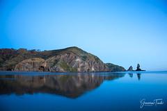 BLUE REFLECTION (Cor Lems) Tags: anawhata naturallight naturalworld beach newzealand sunset bluehour westcoast nature naturallighting ocean seascape landscapes landscape auckland sea